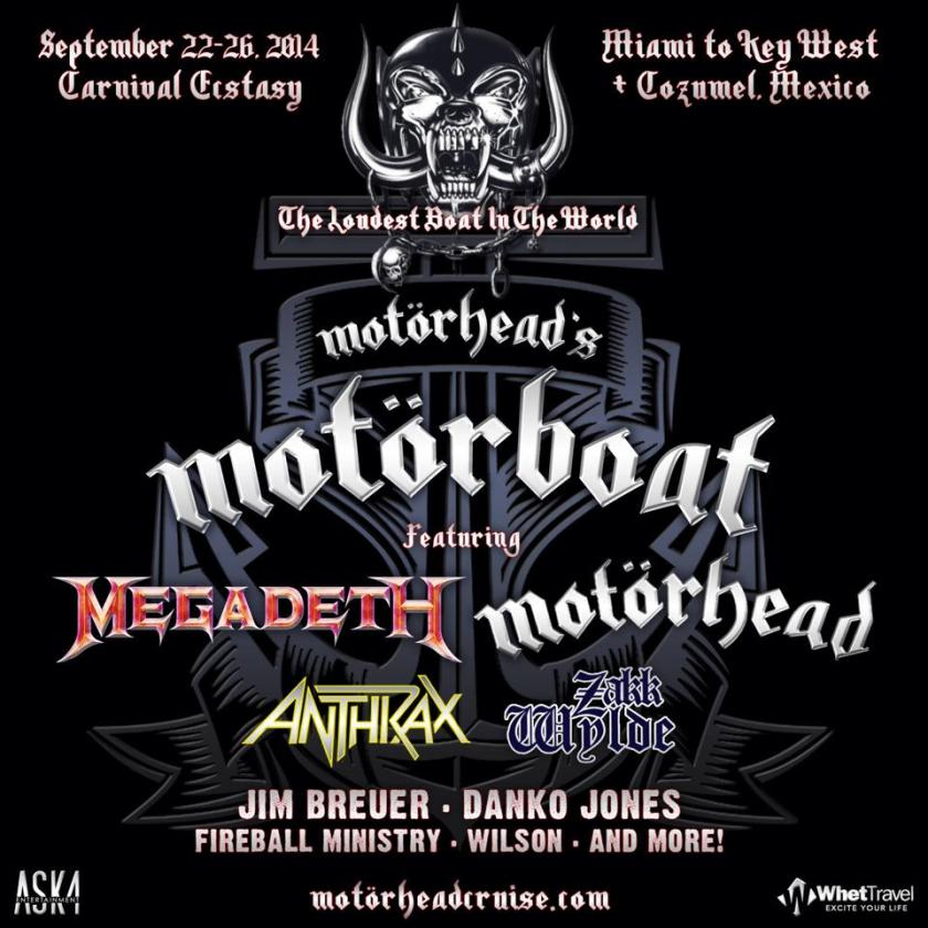 Anthrax, Megadeth and more added to Motorhead's Motorboat cruise