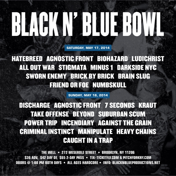 Black N' Blue Bowl 2014 lineup announced