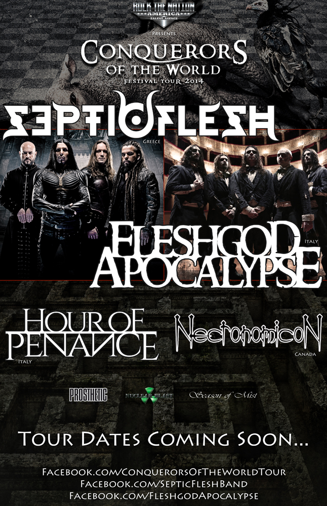 SEPTICFLESH ANNOUNCES NORTH AMERICAN TOUR WITH FLESHGOD APOCALYPSE‏