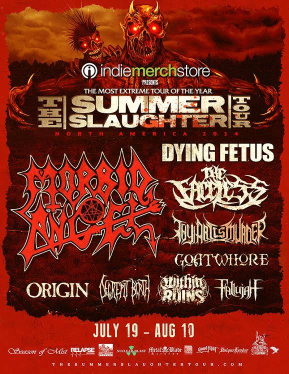 MORBID ANGEL, DYING FETUS, THE FACELESS, THY ART IS MURDER Confirmed For SUMMER SLAUGHTER TOUR