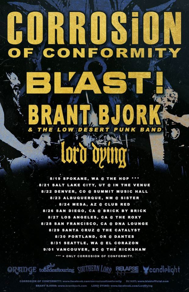Corrosion Of Conformity Announce Fall US Tour
