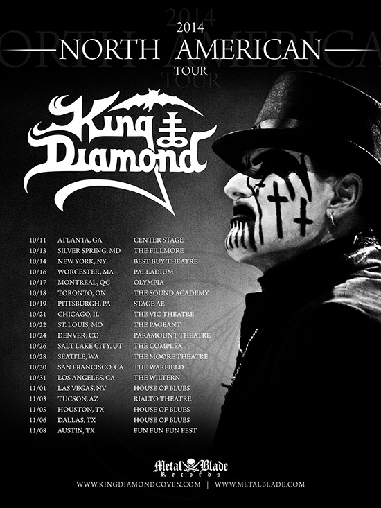 King Diamond announces North American Tour 2014