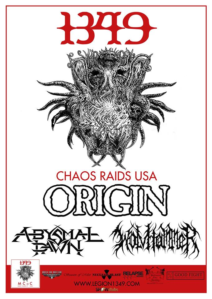 "1349 are proud to announce the ""Chaos Raids USA"" 2015 Tour Dates"