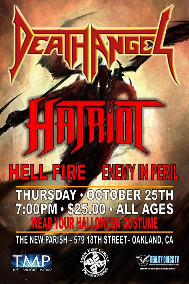 Death Angel Perform The Ultra Violence In Its Entirety In Oakland, California10/25/12