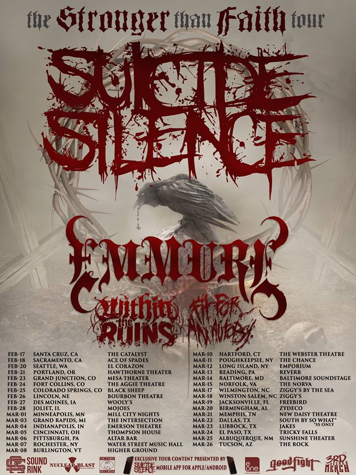 Emmure To Hit The Road With Suicide Silence, Within The Ruins & Fit For An Autopsy