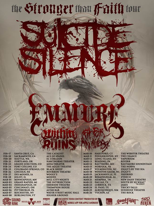 SUICIDE SILENCE are coming to SACRAMENTO w/ EMMURE!‏