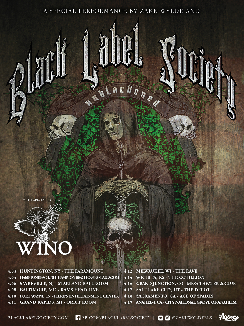 Zakk Wylde Announces The Unblackened Tour‏
