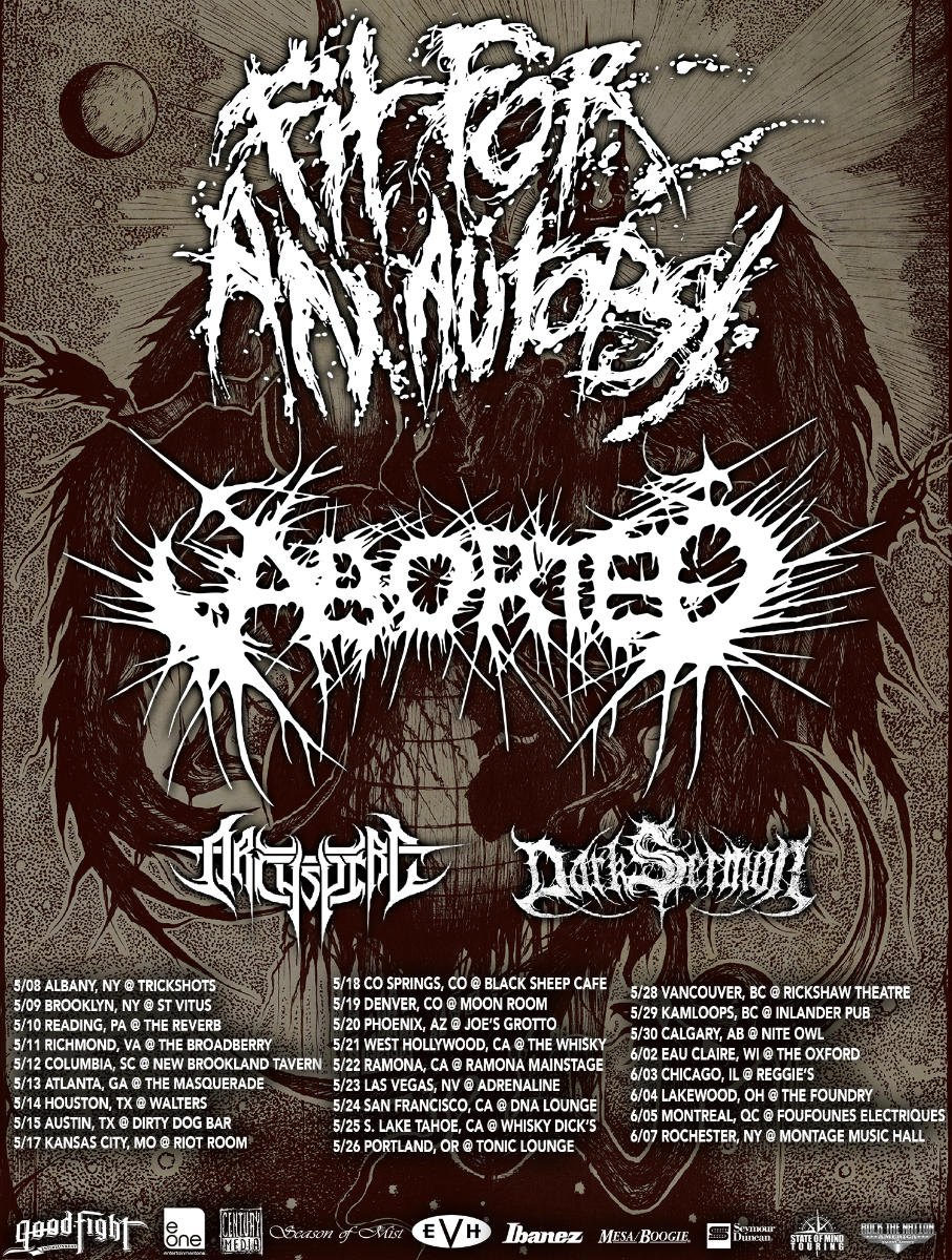 Fit For An Autopsy Announce Dates With Aborted‏