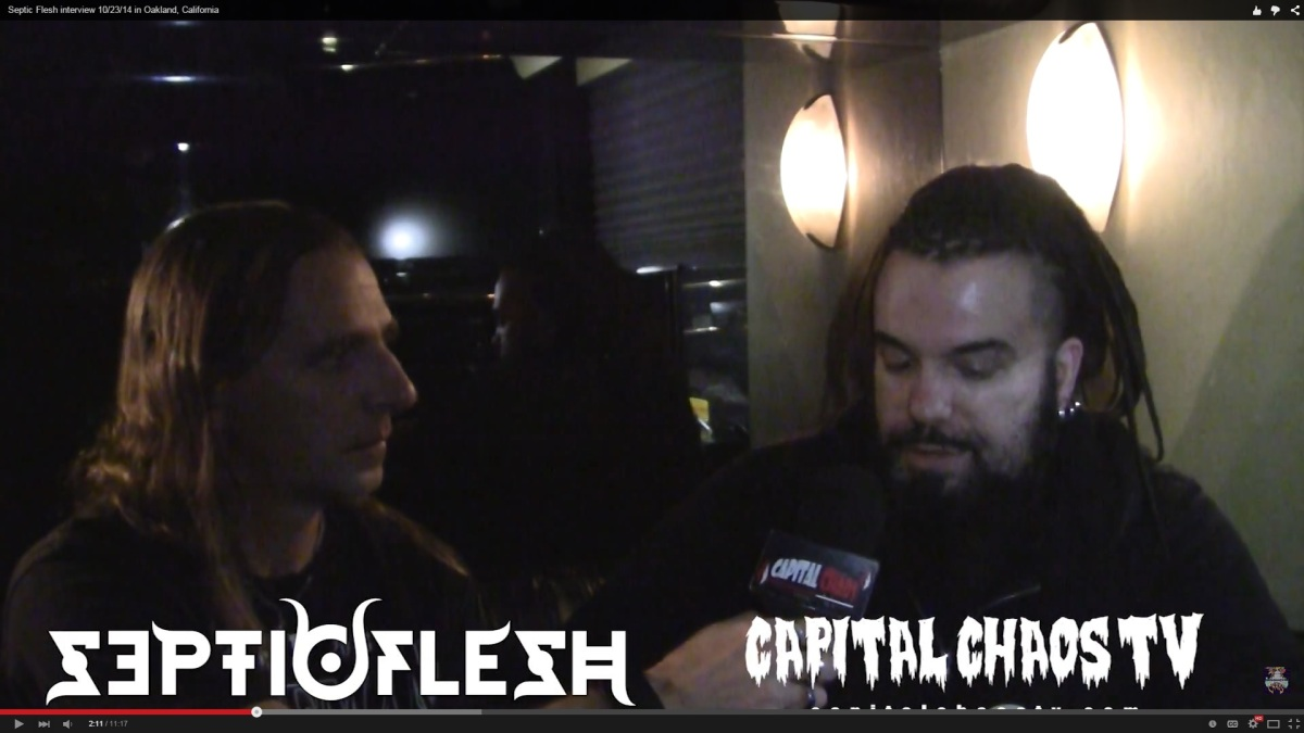 Todd Owens chats with Christos Antoniou of Septic Flesh in Oakland, California