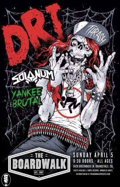 Solanum to Support DRI in Orangevale, California with Conceived In Chaos, Yankee Brutal & PettyEducation