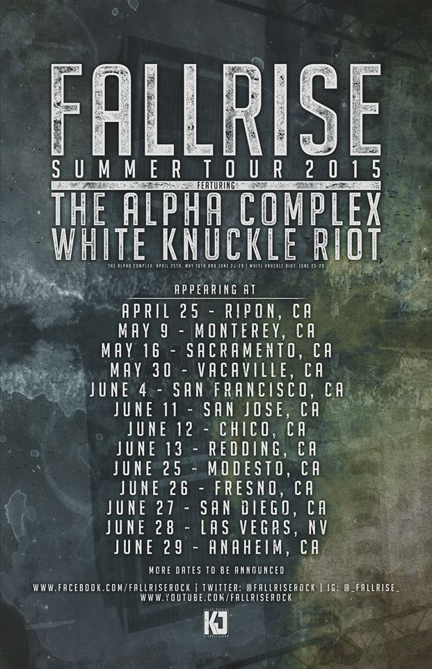 FallRise To Hit The Road With The Alpha Complex And White Knuckle Riot