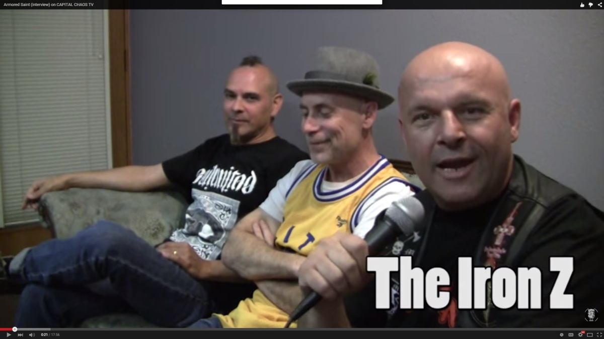 New Video Interview With John Bush & Joey Vera of Armored Saint In San Jose, California