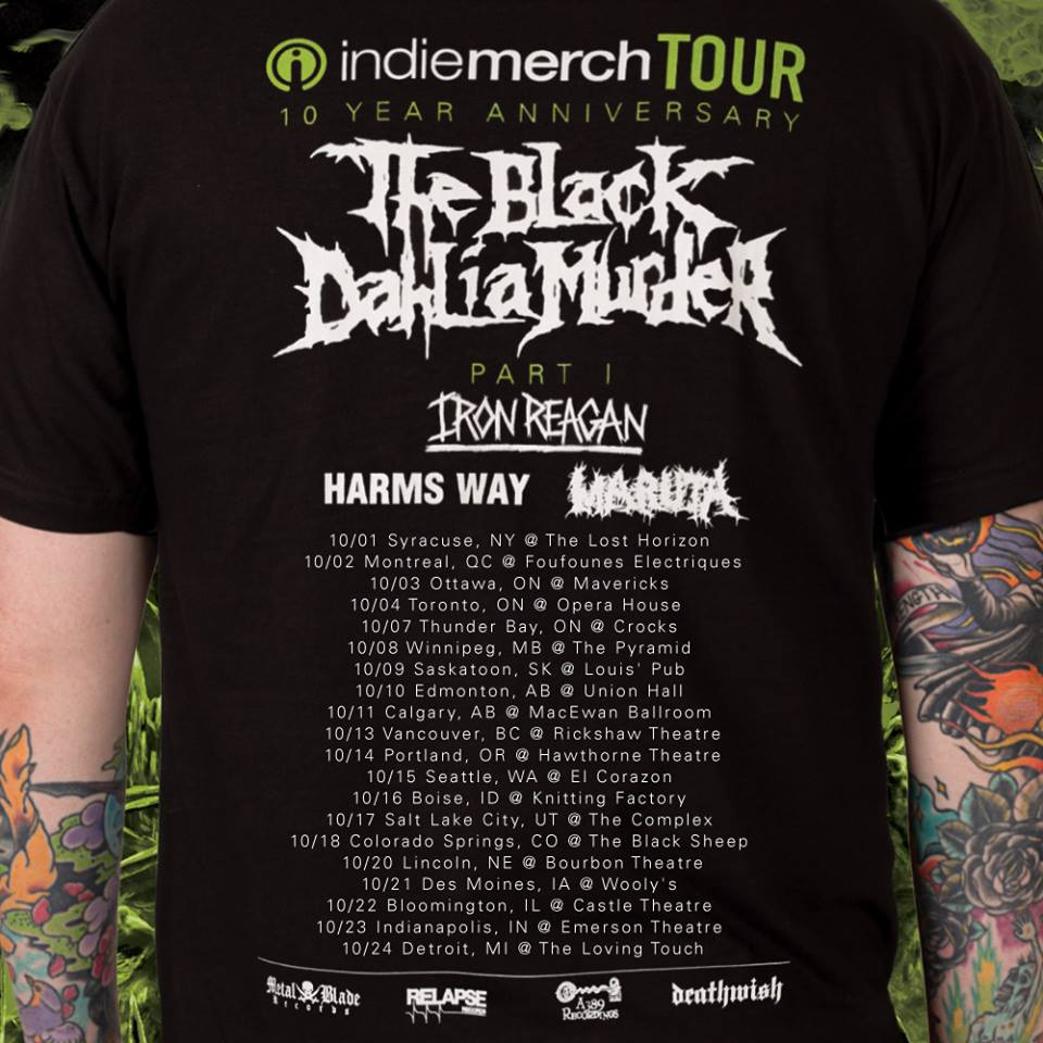 THE BLACK DAHLIA MURDER to headline IndieMerch Tour this fall‏