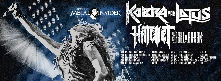 A Fall To Break Joins Kobra And The Lotus & Hatchet Summer Tour‏