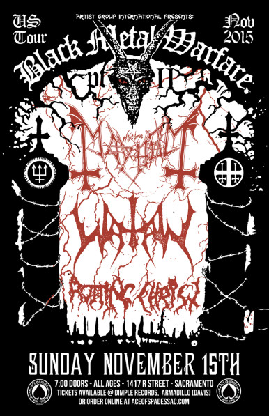 Watain To Return To Sacramento With Mayhem & RottingChrist
