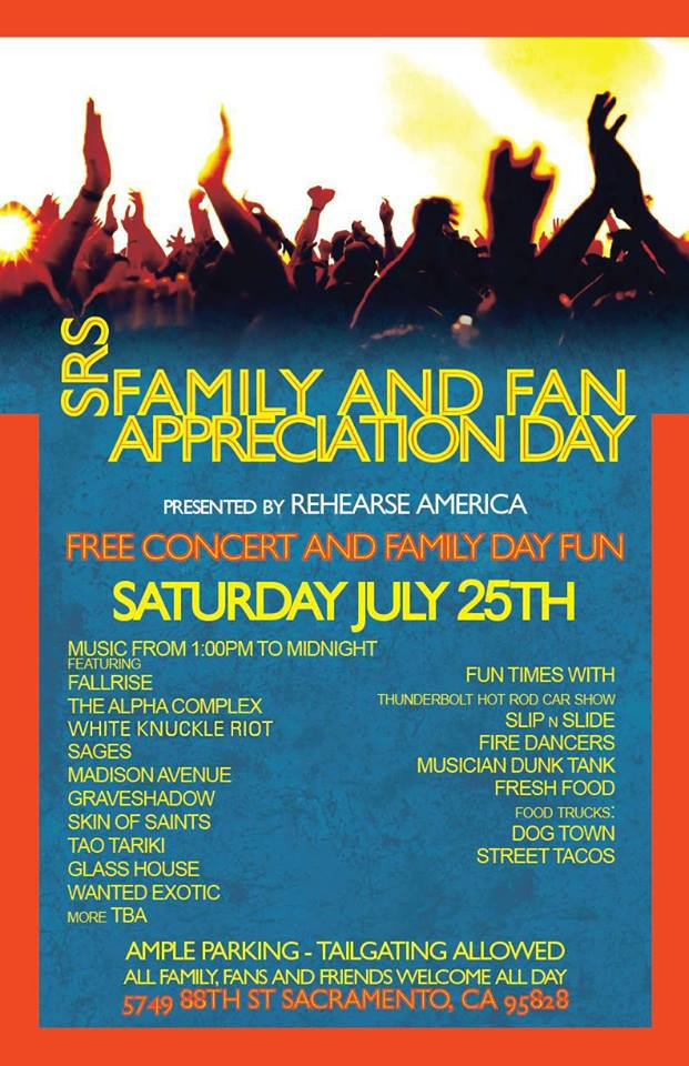 Fallrise, Graveshadow, Fire Dancers And More For Free In Sacramento, CaliforniaToday…