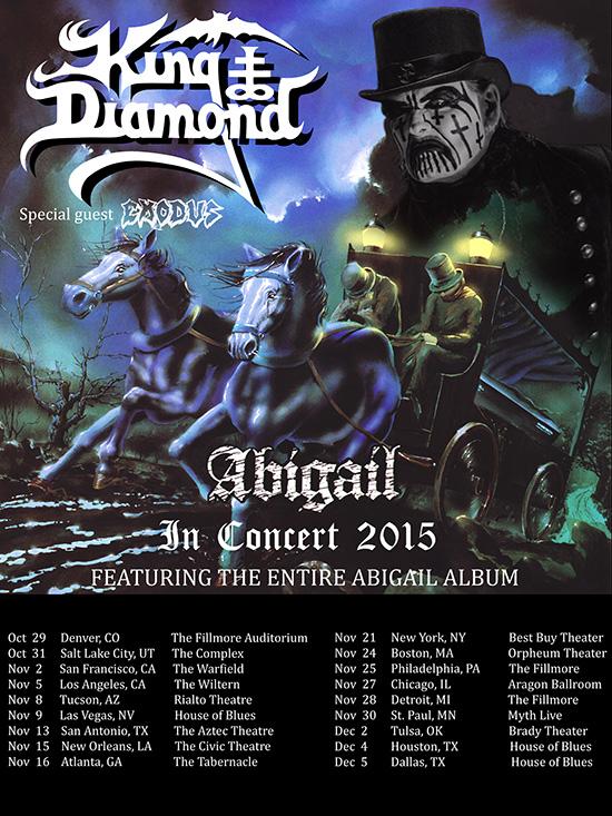 """King Diamond announces """"Abigail In Concert 2015""""tour"""