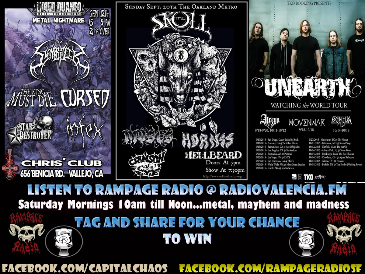 Free Tickets To The Skull, Unearth, Symbolik And More By Listening To RampageRadio