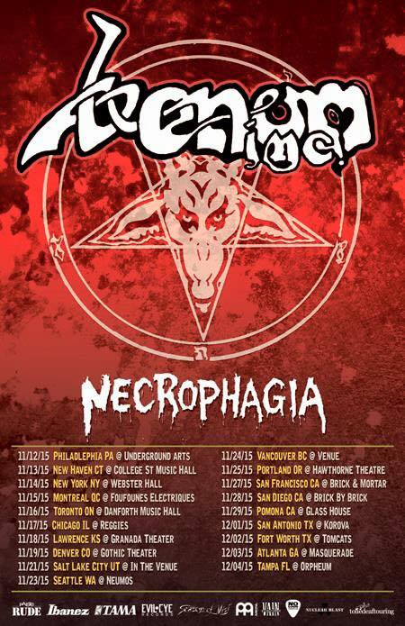 Venom Inc. North American Tour 2015 With Necrophagia