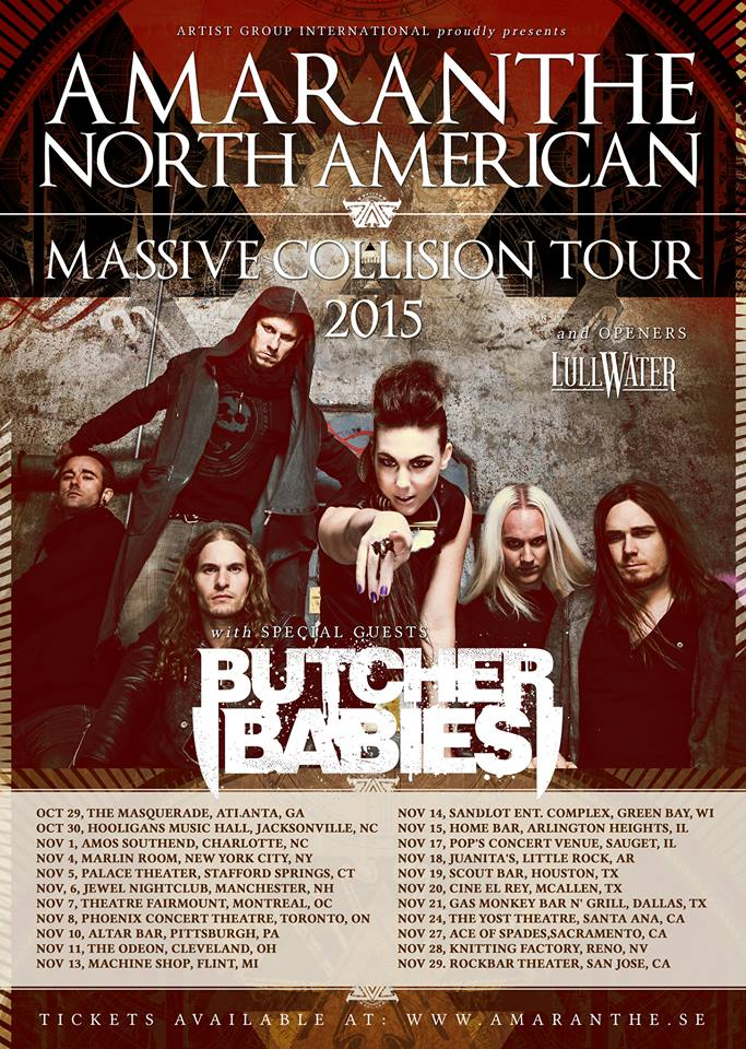 Sweden's Amaranthe To Finish 2015 Tour With Butcher Babies ThisWeekend