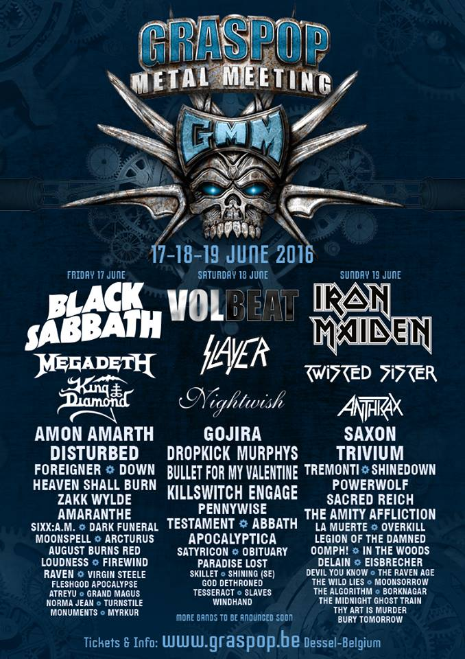 Sacramento's Slaves To Open Day 2 Of Graspop Metal Meeting In Belgium