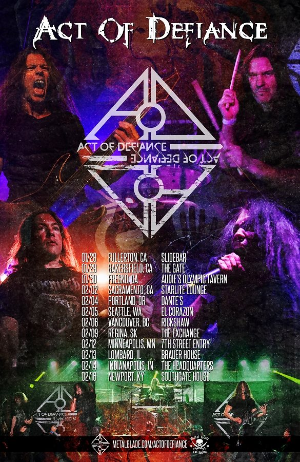 Act Of Defiance Winter Tour Includes Stops In Sacramento, Fresno and More