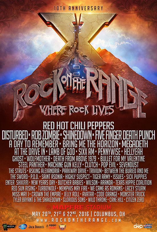 Rock on the Range celebrates 10th Anniversary With Ghost, Tiger Army And ManyMore…