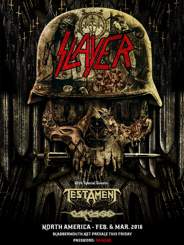 Slayer, Testament and Carcass North America Tour 2016 Announced
