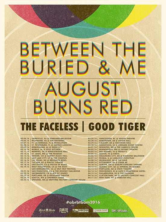 Between the Buried and Me and August Burns Red announce co-headline North American Tour‏