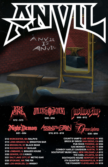 "ANVIL Release New Lyric Video For ""Die For a Lie"" Announce US Tour Dates‏ With Graveshadow, Unleash The Archers And More On Select Dates"