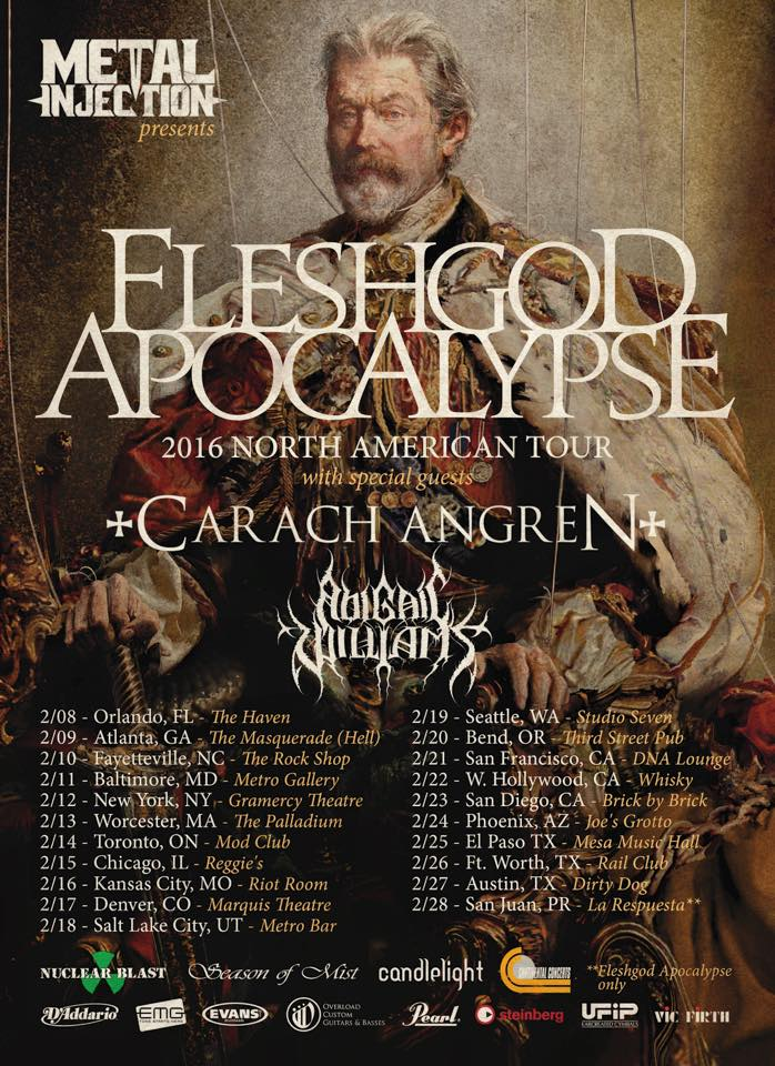 "Fleshgod Apocalypse premiere official video for ""Cold As Perfection""‏ and announce U.S. tour dates"