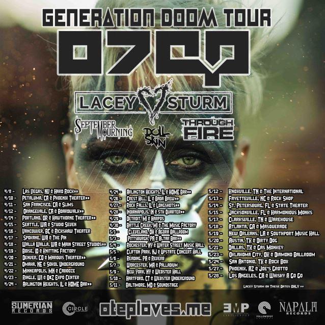 """OTEP Announces """"GENERATION DOOM"""" North AmericanTour"""