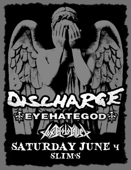Discharge U.S. 2016 Tour With Eye Hate God And Toxic Holocaust To Hit San Francisco, Los Angeles And More..