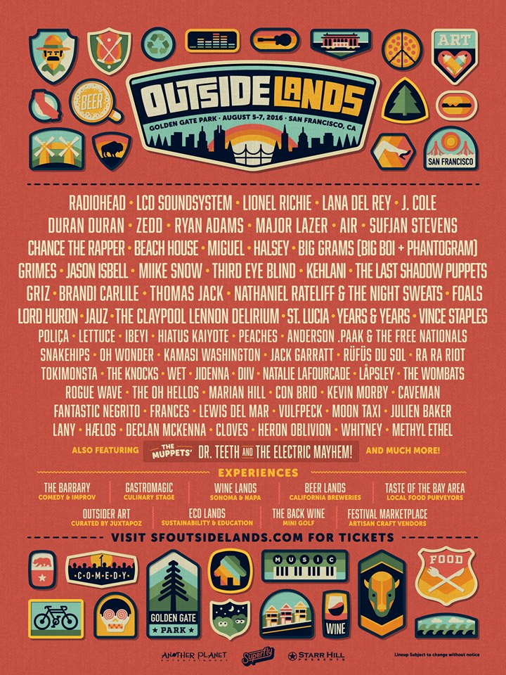 Duran Duran, Radiohead, Lionel Richie And Others Announced For Outside Lands 2016