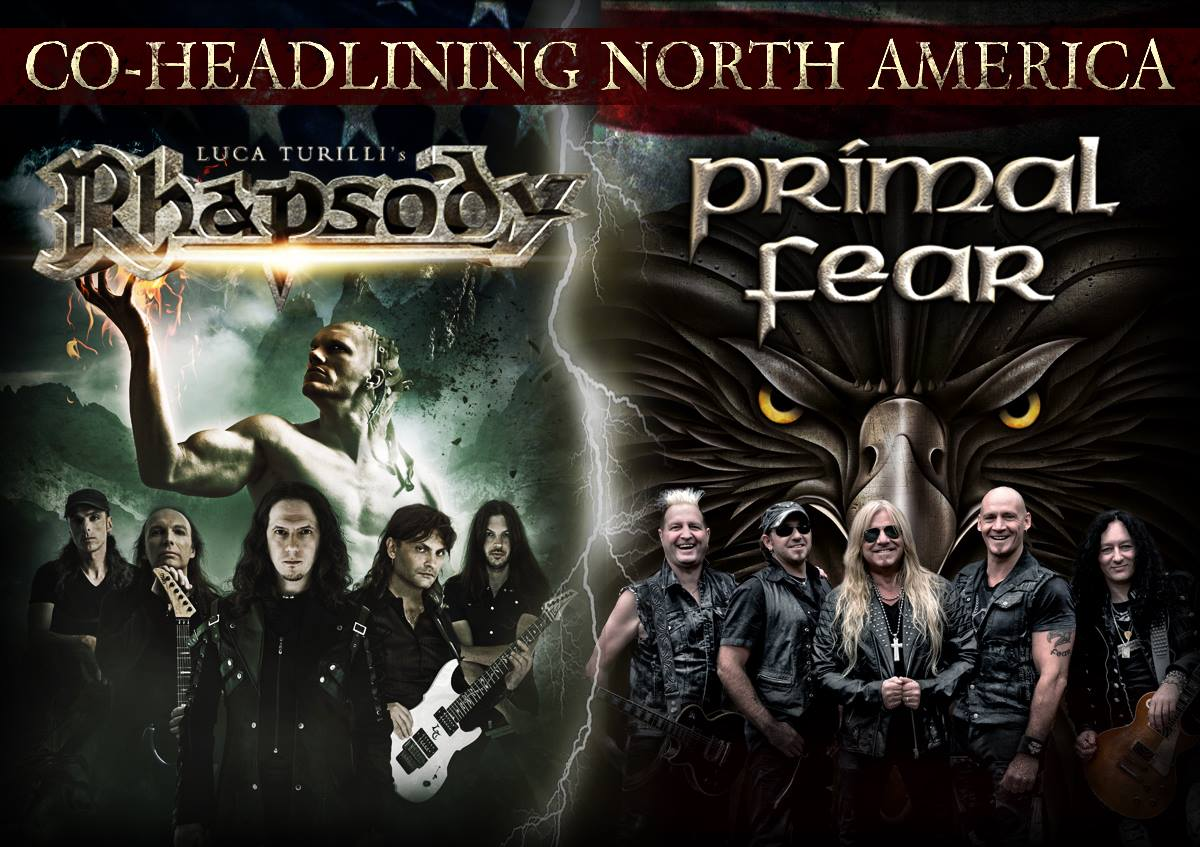 Luca Turilli's Rhapsody and Primal Fear North American Assault Begins April26th
