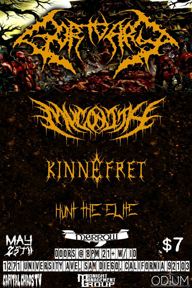 Oakland's Kinnefret To Rage San Diego Tonight With Gortuary