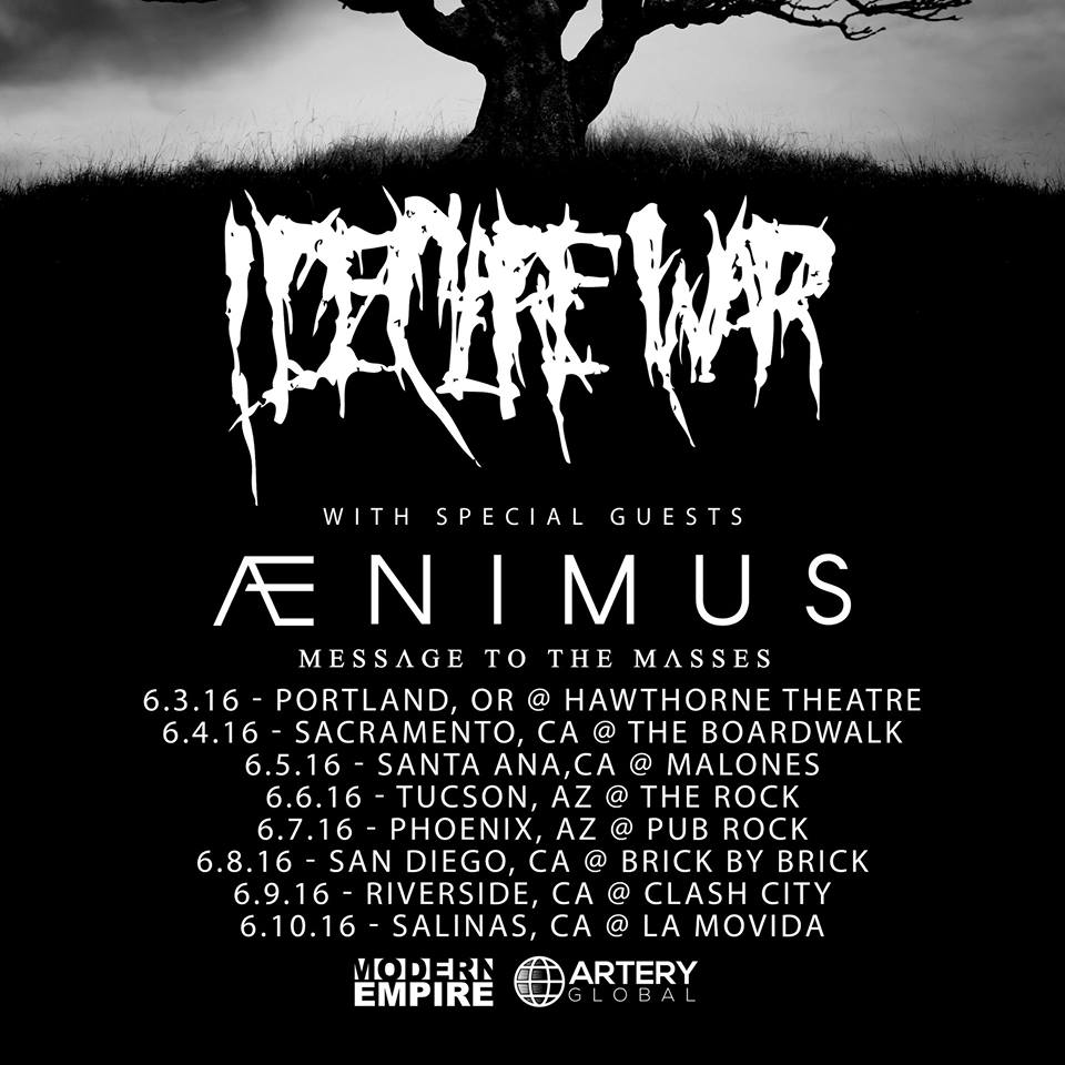 Message To The Masses To Hit The Road With I Declare War AndAenimus