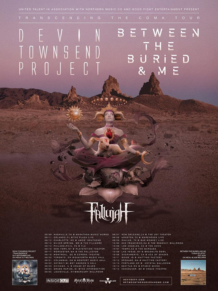 Between The Buried And Me To Perform Coma Ecliptic in its entirety on Tour with Fallujah and Devin Townsend