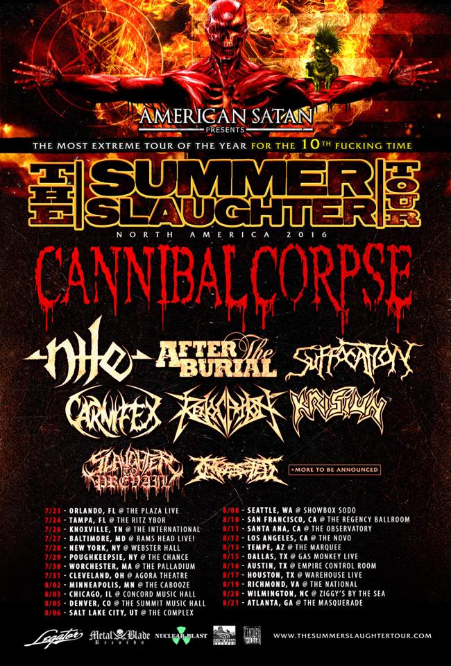The Summer Slaughter Tour 2016 Dates Revealed