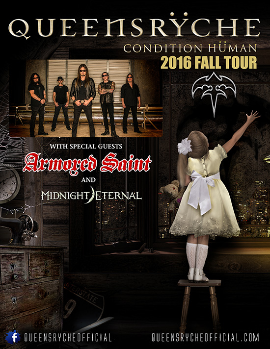 Armored Saint announces USA tour dates with Queensryche, Midnight Eternal