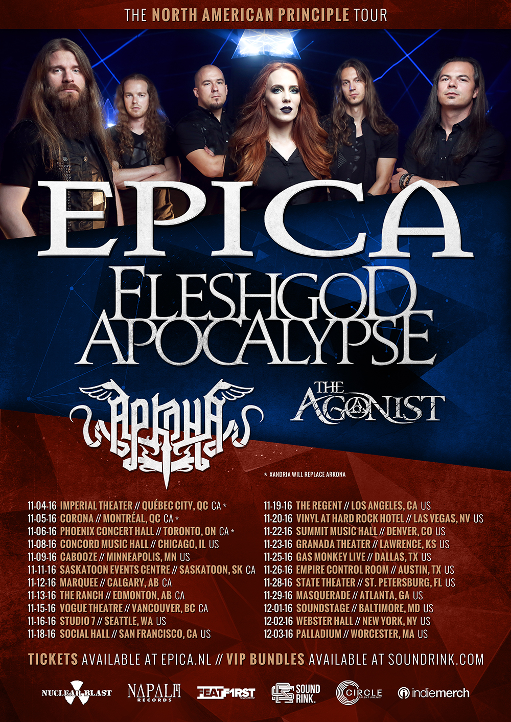 Epica Announce The North American Principle Tour With Fleshgod Apocalypse