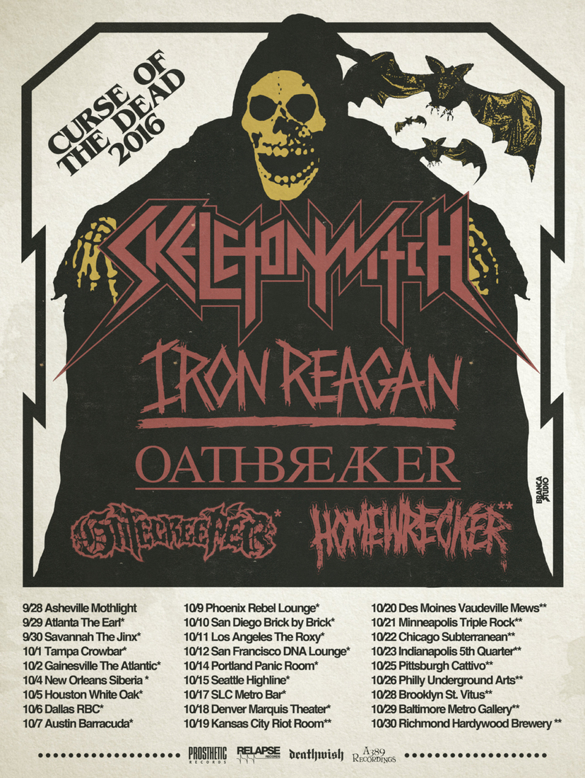 "Skeletonwitch Announce U.S. ""Curse Of The Dead Tour"" With Iron Reagan, Oathbreaker"
