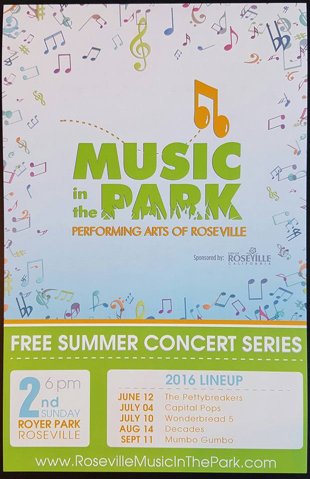 Roseville Music in the Park ConcertSchedule