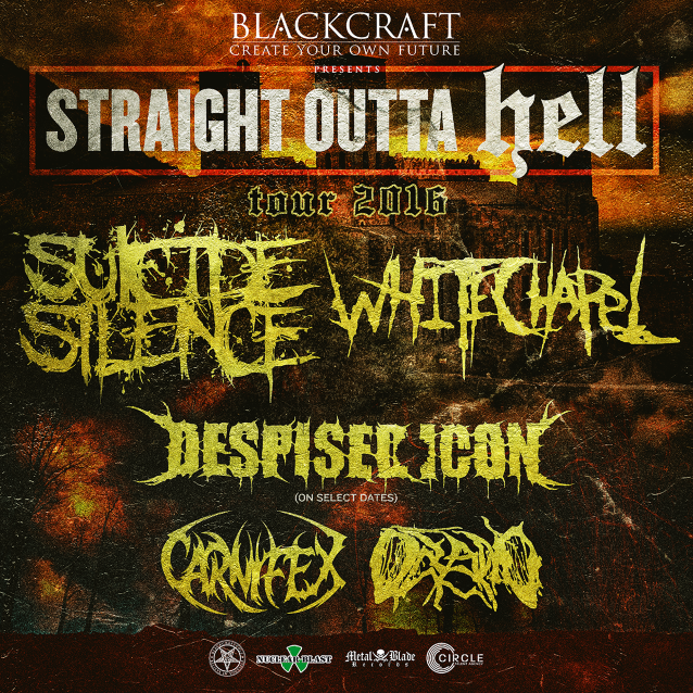 Whitechapel announces co-headlining USA tour with Suicide Silence thisfall