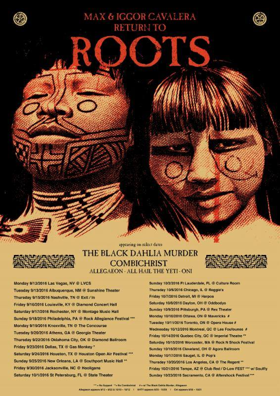 "Announcing the ""Max & Iggor Cavalera RETURN TO ROOTS""Tour"