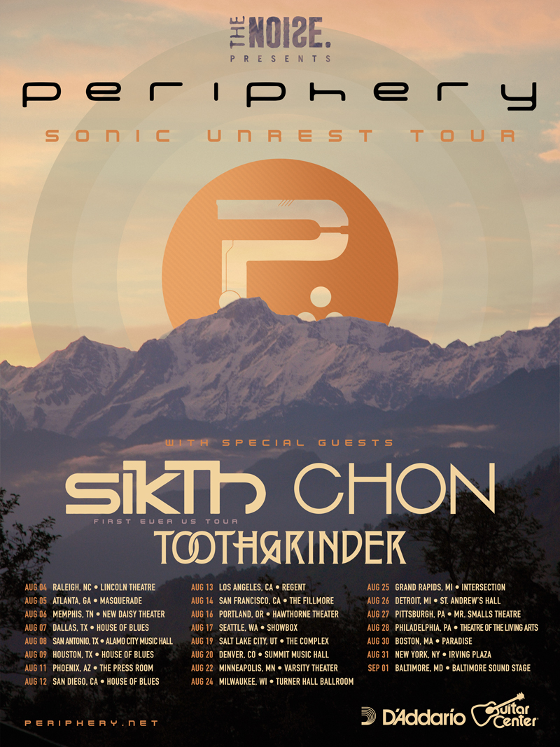 SikTh to embark on first ever U.S. tour next month withPeriphery