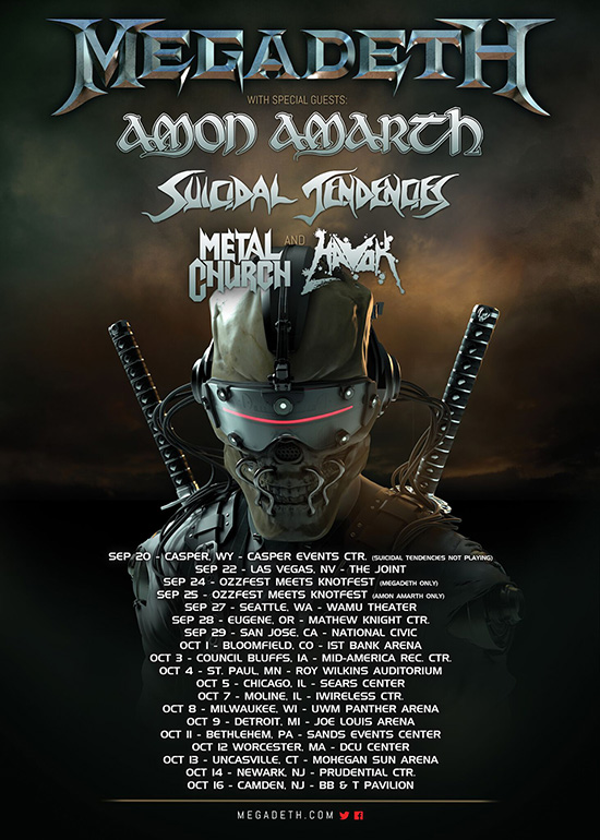 Amon Amarth announces USA tour with Megadeth, Suicidal Tendencies, Metal Church, Havok