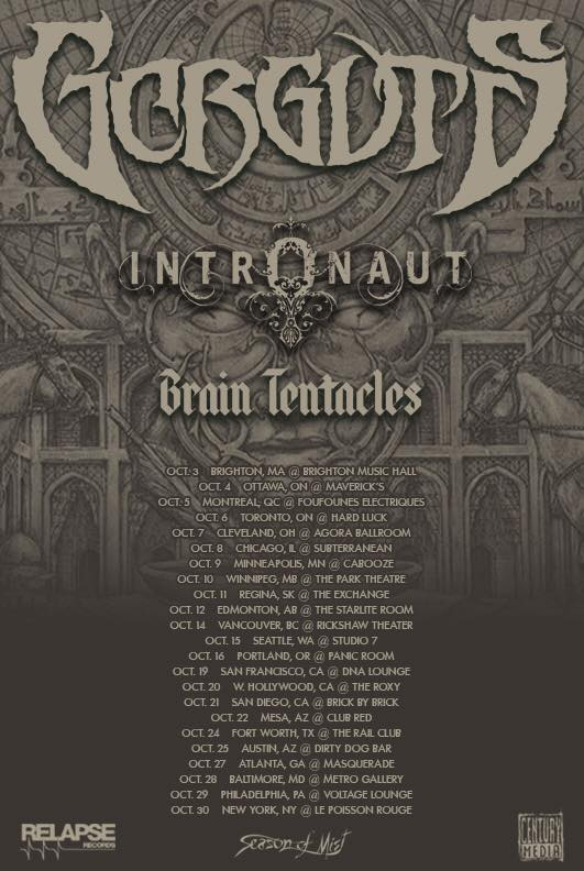 Brain Tentacles Share Self-Titled Debut Details + First Single; Announce NA Tour With Gorguts