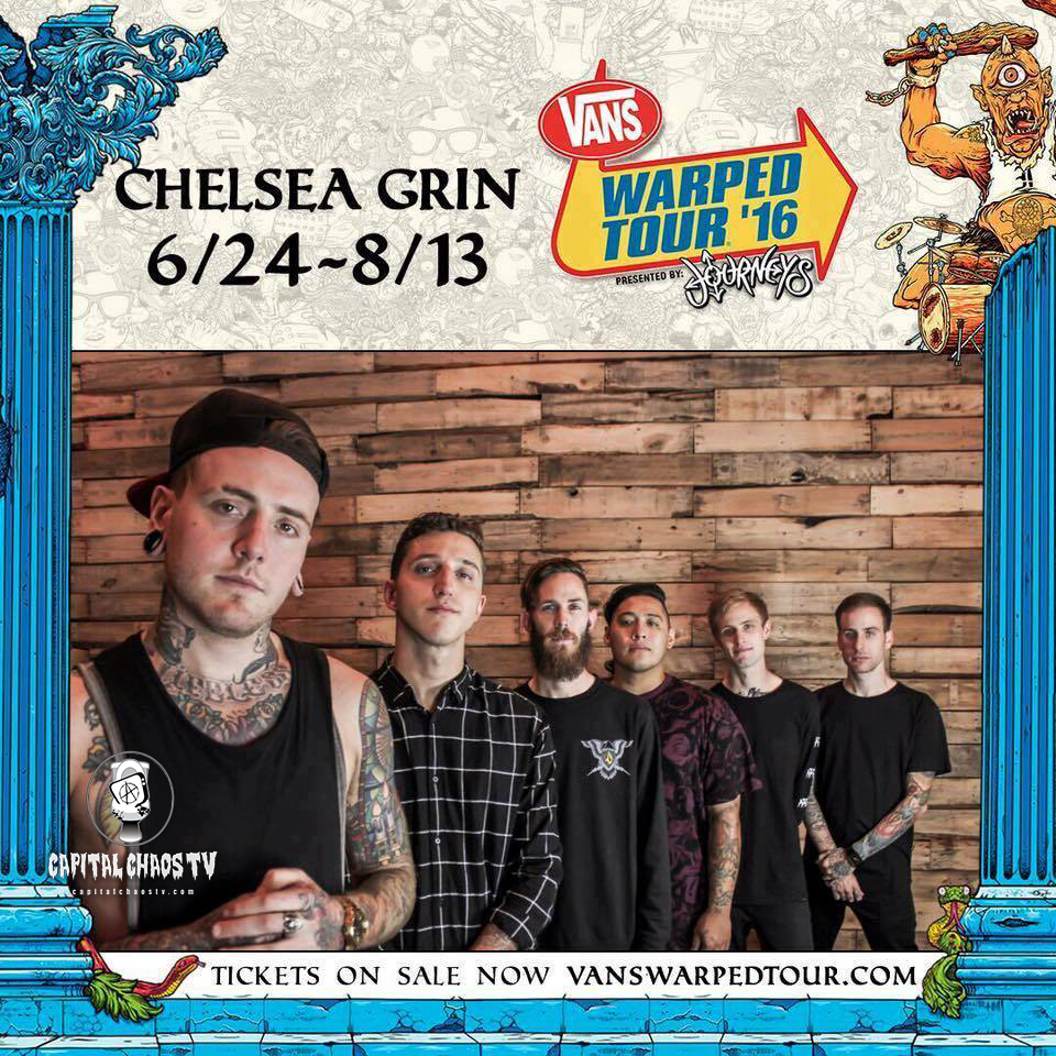 Stephen Rutishauser of Chelsea Grin Interviewed @ Warped Tour in Mountain View, California