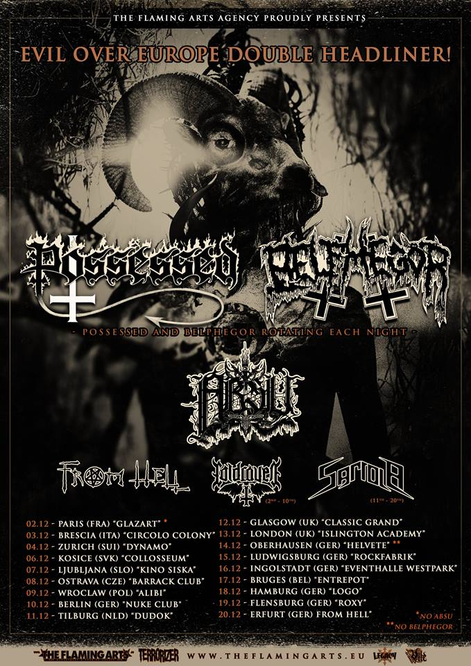 Evil Over Europe Tour with Possessed and @Belphegor Announced